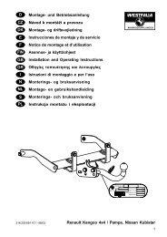 Renault Kangoo 4x4 / Pampa, Nissan Kubistar D Montage ... - Kfzpoint
