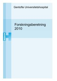 Forskningsberetning 2010 - Gentofte Hospital