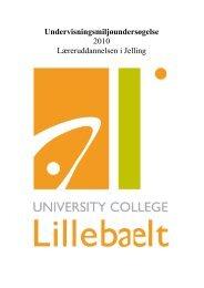Undervisningsmiljøundersøgelse 2010 - University College Lillebælt