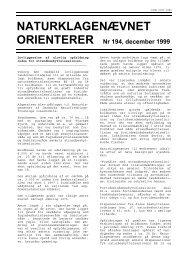 NATURKLAGENÆVNET ORIENTERER Nr 194, december 1999