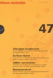 Ukens Statistikk 1993, 47 - Statistisk sentralbyrå