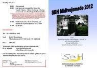 Informationer: Tid : 28 & 29 Marts 2012 Sted: Hotel ... - SBH Boformer