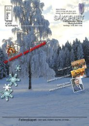 Menighetsbladet for Julen 2010 - Evangeliesalen-Berøa