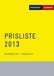 Prisliste 2013 Fristads Kansas - Chrisholm