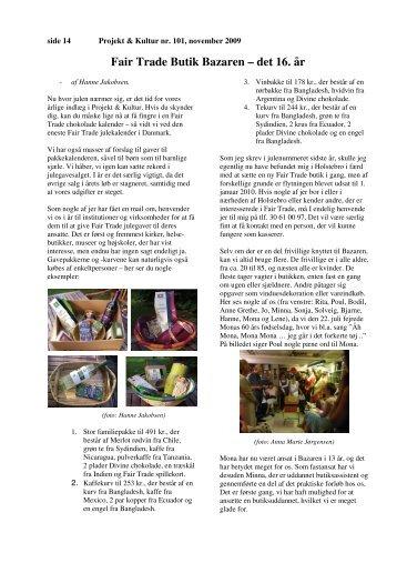 Fair Trade Butik Bazaren – det 16. år
