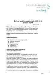 Referat fra styregruppemøde d.09.11.12 Projekt ... - Region Sjælland