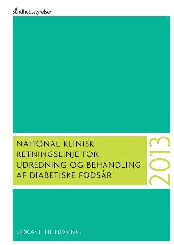 national klinisk retningslinje for udredning og behandling af ... - Net