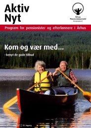 Aktiv Nyt - Forår 2007 - KlostergadeCentret