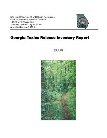 Georgia Toxics Release Inventory Report - Georgia Environmental ...