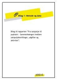 Bilag 1: Metode og data - KREVI