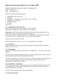Referat fra bestyrelsesmødet d - Grundejerforeningen Krakesvej