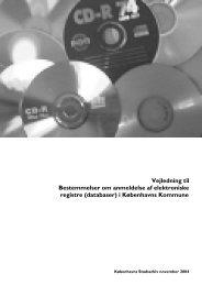 Vejledning til Bestemmelser om anmeldelse af elektroniske registre ...