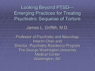 """2) """"Looking Beyond PTSD – Emerging Practices for Treating ..."""