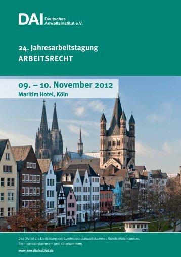 10. November 2012 - Deutsches Anwaltsinstitut eV