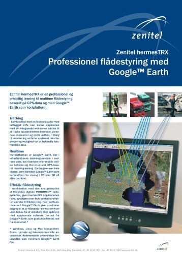 MOTOTRBO flådestyring & Google Earth - Zenitel