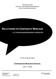 RELATIONER PÅ CORPORATE WEBLOGS - Get a Free Blog