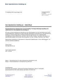 Dan-Ejendomme Holding as - Købstilbud - DEAS