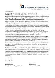 Byggeri & Teknik I/S ruster sig til fremtiden! - Landbyg.dk
