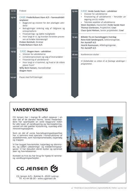 - Havneudvidelser, havnesikring og klima