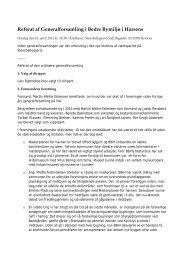 Referat af Generalforsamling i Bedre Bymiljø i Horsens - bbih.dk