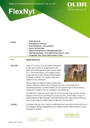 Flex Nyt uge 15 2012 - Jysk Landbrugsrådgivning