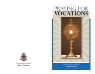 Praying for Vocations - Archdiocese of Vancouver