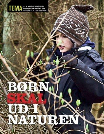Tema om børn og natur - Danmarks Naturfredningsforening