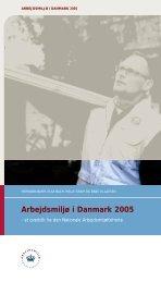 Arbejdsmiljø i Danmark 2005 - Det Nationale Forskningscenter for ...
