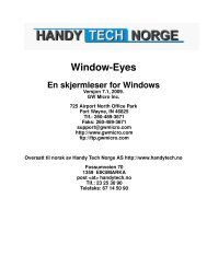 1. Introduksjon til Window-Eyes - Handy Tech Norge AS