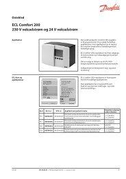 ECL Comfort 200 230 V vekselstrøm og 24 V ... - Danfoss Varme