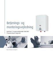 Betjenings- og monteringsvejledning - Lavprisvvs.dk