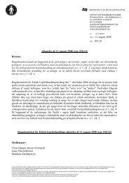 Afgørelse af 13. august 2008 (j.nr. 810.16) - Klagekomitéen for ...