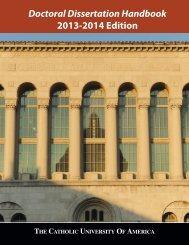 Doctoral Dissertation Handbook - Graduate Studies - The Catholic ...