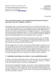 københavns universitet, det juridiske fakultet - Børnerådet