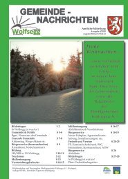 GEMEINDE - Wolfsegg am Hausruck - Land Oberösterreich