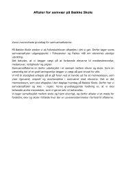 Aftaler for samvær på Bække Skole - sep. 2011 - Skoleporten ...