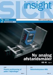 Ny analog afstandsmåler - SICK