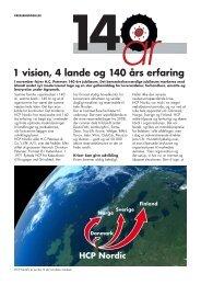 1 vision, 4 lande og 140 års erfaring - HC Petersen Norge