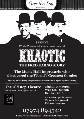 The Music Hall Impresario who discovered the ... - Music On Stage