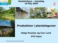 Produktion i plantelaguner - AquaCircle