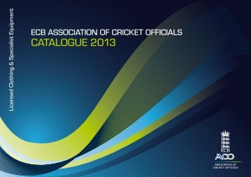 CATALOGUE 2013 - Fearnley Cricket