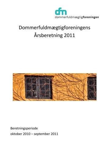 Årsberetning 2011 - Dommerfuldmægtigforeningen