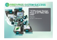 """IC2Package Design Flow at ST FMG R&D CAD"""