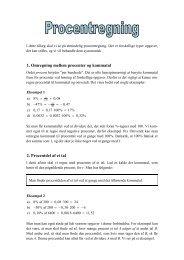 0B1. Omregning mellem procenter og kommatal ... - matematikfysik