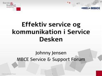 Effektiv service og kommunikation i Service Desken