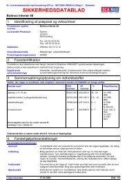 Sikkerhedsdatablad (Danish) - Jotunproff