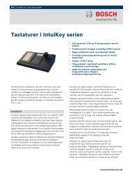 Tastaturer i IntuiKey serien - Bosch Security Systems