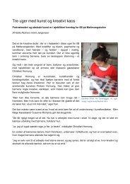 Artikel om 0.Bs kunstprojekt 2011 - Møllevangskolen