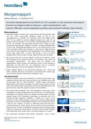 Read full report - Nordea Markets Research