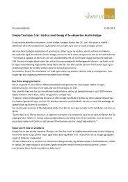 Hent pressemeddelelse som PDF her - Simply Tea